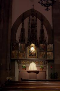 Церковь Св. Петра Старого в Страсбурге, неоготический алтарь
