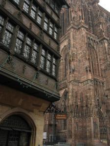 Дом Каммерзеля и собор в Страсбурге