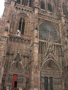 Кафедральный собор Страсбурга, центральный фасад