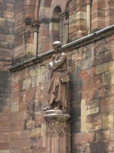 Кафедральный собор Страсбурга, портал южного фасада, Эрвин