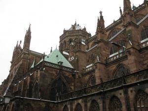 Кафедральный собор Страсбурга, вид на башню средокрестия