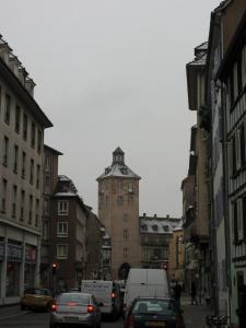 Вид на башню госпиталя в Страсбурге