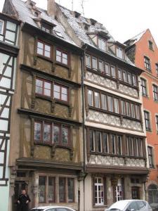 Дома с коломбажем в Страсбурге на набережной Св. Николая