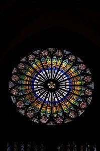 Кафедральный собор Страсбурга, центральное окно-роза