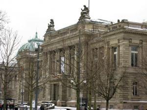 Национальный театр и университетская библиотека, площадь Республики, Страсбург