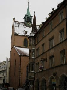 Дом с аркадами и церковь Св. Матфея, Кольмар, Франция