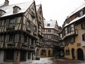 Угол Гран-Рю и Торговой улицы, Кольмар, Франция
