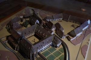 Макет монастыря Унтерлинден, Кольмар, Франция