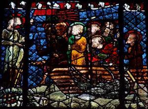Кафедральный собор Страсбурга, витраж со сценами Воскресения и явлений Христа