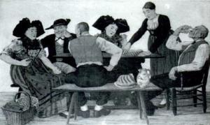 Эльзасские крестьяне за столом