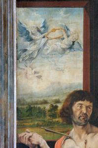 Изенгеймский алтарь, св. Себастьян
