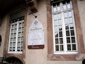 Госпиталь в Страсбурге, вход в исторический винный погреб