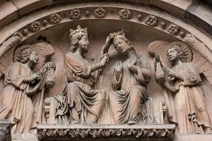 Кафедральный собор Страсбурга, портал южного фасада, «Коронование Богоматери»