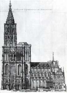 Кафедральный собор Страсбурга в XVII веке
