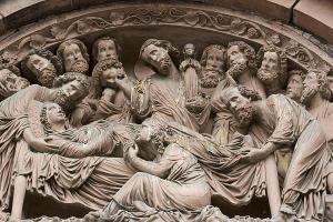 Кафедральный собор Страсбурга, портал южного фасада, «Успение Богоматери»