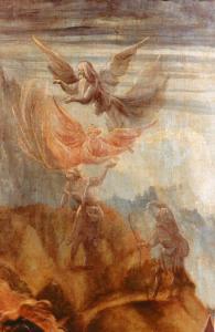 Изенгеймский алтарь, ангелы и пастухи