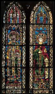 Кафедральный собор Страсбурга, императоры Фридрих I Барбаросса и Генрих II Святой