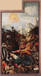 Изенгеймский алтарь, искушения св. Антония