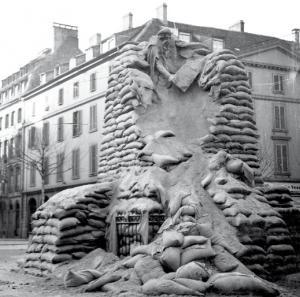 Памятник Гутенбергу в Страсбурге, 1939 год