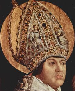 Грюневальд, «Встреча св. Эразма и св. Маврикия», Старая пинакотека, Мюнхен