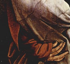 Изенгеймский алтарь, апостол Иоанн