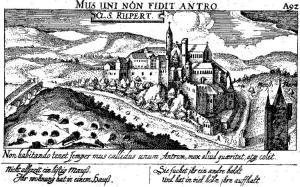 Вид монастыря Рупертсберг, XVII в.