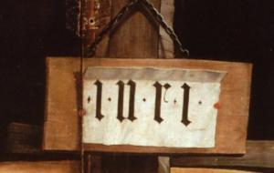 Изенгеймский алтарь, надпись INRI