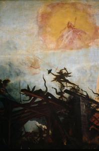 Изенгеймский алтарь, искушения св. Антония, фрагмент