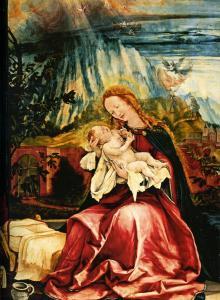 Изенгеймский алтарь, Мадонна с младенцем