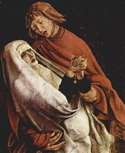 Изенгеймский алтарь, Богоматерь и апостол Иоанн