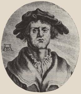 Мнимый портрет Матиаса Грюневальда в молодости, из книги Йоахима фон Зандрарта