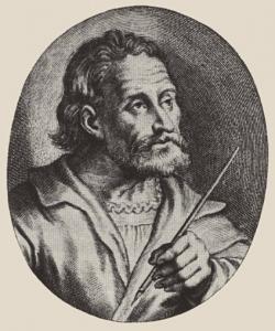 Мнимый портрет Матиаса Грюневальда, из книги Йоахима фон Зандрарта