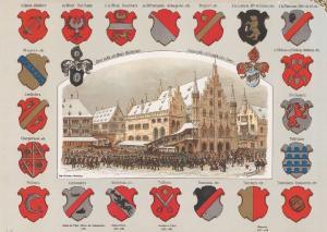 Площадь Гутенберга в Страсбурге, старая ратуша Pfalz