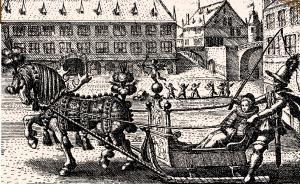 Площадь Гутенберга (тогда площадь Св. Мартина) в Страсбурге, 1608 год