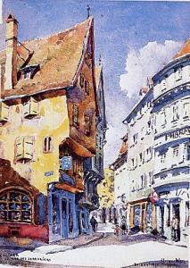 Рисунок Анси, улица Слесарей, Кольмар, Франция