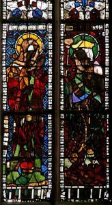 Кафедральный собор Страсбурга, витраж капеллы Св. Екатерины