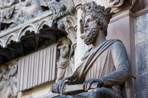 Кафедральный собор Страсбурга, портал южного фасада, Соломон