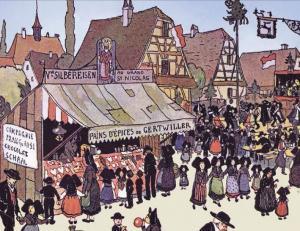 Торговля пряниками, рисунок Анси