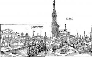 Кафедральный собор Страсбурга в XV веке