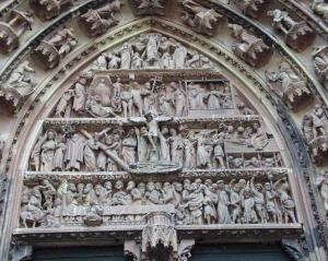 Кафедральный собор Страсбурга, западный портал центрального фасада