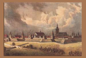 Вид Кольмара в 1643 г.