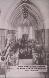 Вид бывшей монастырской часовни, музей Унтерлинден, Кольмар, фотография 1901 года