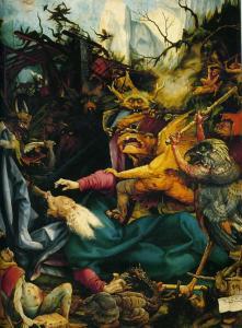 Изенгеймский алтарь, искушения св. Антония, картина третьей развёртки