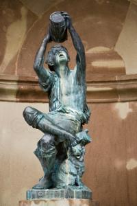 Скульптура винодела, Кольмар, Франция