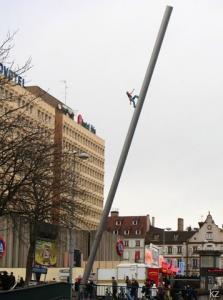 Современное искусство на улицах Страсбурга, скульптура Джонатана Борофски