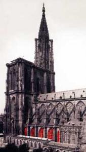 Кафедральный собор Страсбурга, расположение витражей южного бокового нефа