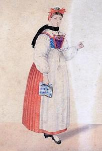 Традиционный эльзасский женский костюм
