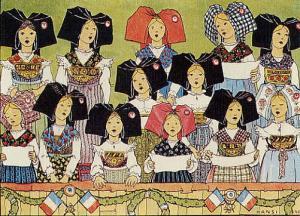 Традиционный эльзасский женский костюм, рисунок Анси