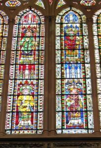Кафедральный собор Страсбурга, витраж с изображением епископов