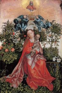 «Мадонна в беседке из роз», копия